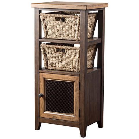 Tuscan Retreat ® Cafe Sua Two-Tone 1-Door Basket Stand