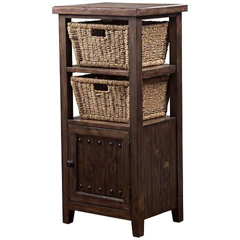 Hillsdale Tuscan Retreat ® Mocha 1-Door Basket Stand