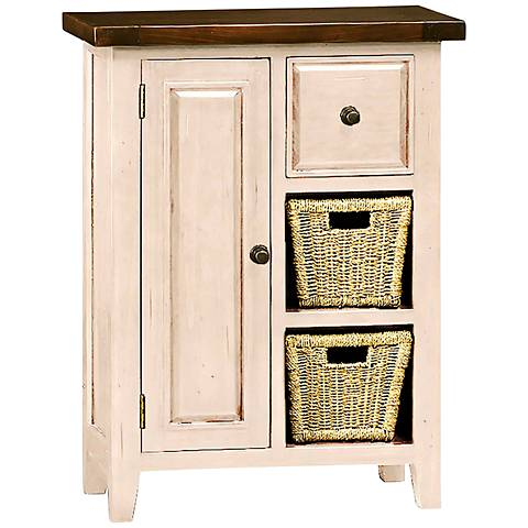 Tuscan Retreat ® Country White 1-Door Coffee Cabinet