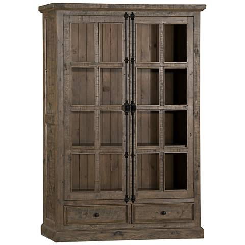 Hillsdale Tuscan Retreat ® Aged Gray 2-Door Display Cabinet