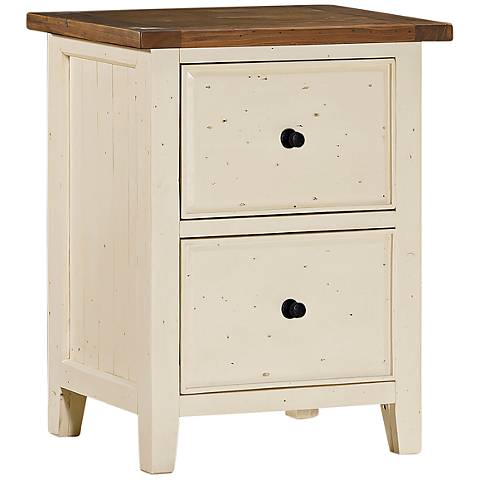 Tuscan Retreat ® Country White 2-Drawer File Cabinet