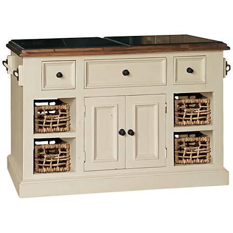Hillsdale Tuscan Retreat ® Large White 2-Door Kitchen Island