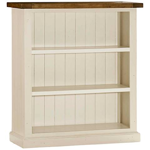 Tuscan Retreat ® Country White 3-Shelf Low Bookcase