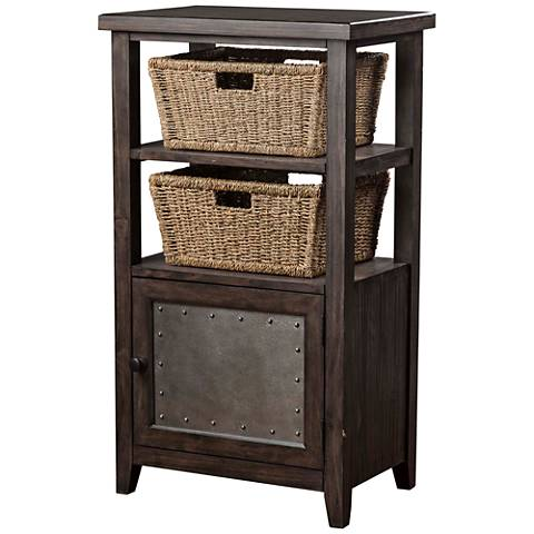 Hillsdale Tuscan Retreat ® Smoke Gray 1-Door Basket Stand