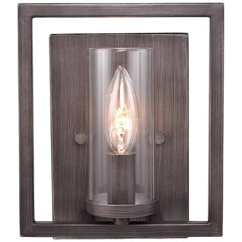 "Marco 8 1/2"" High Gunmetal Bronze Wall Sconce"