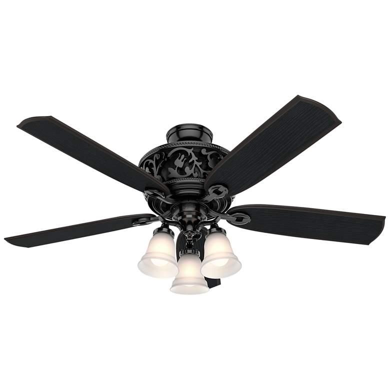 "54"" Hunter Promenade Gloss Black LED Ceiling Fan"