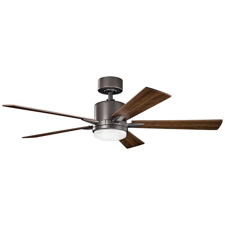 """52"""" Kichler Lucian Olde Bronze LED Ceiling Fan"""
