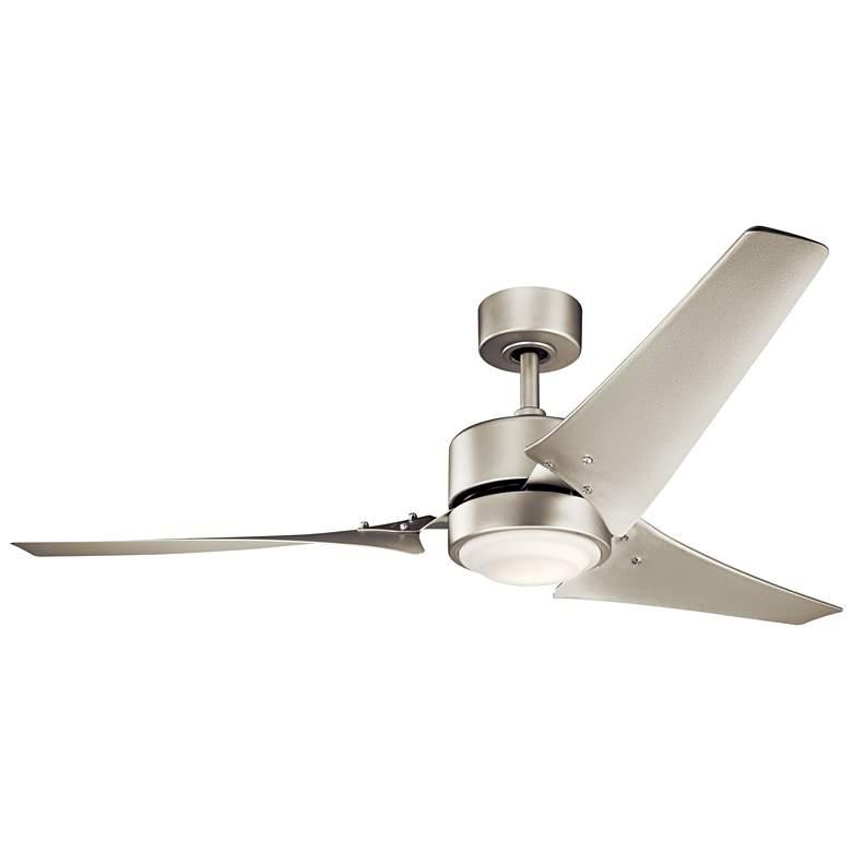 "60"" Kichler Rana Brushed Nickel LED Outdoor Ceiling Fan"