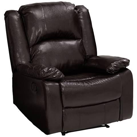 Parklon Brown Faux Leather Recliner Chair