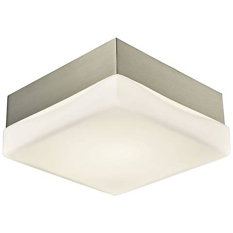 "Wyngate 5 1/4"" Wide Satin Nickel Square LED Ceiling Light"