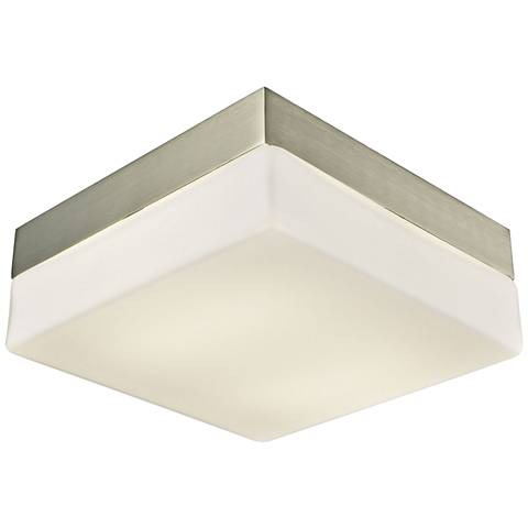 "Wyngate 8"" Wide Satin Nickel Square LED Ceiling Light"