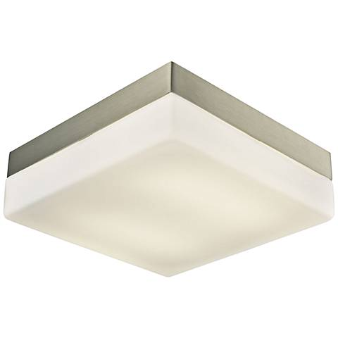 "Wyngate 9"" Wide Satin Nickel Square LED Ceiling Light"