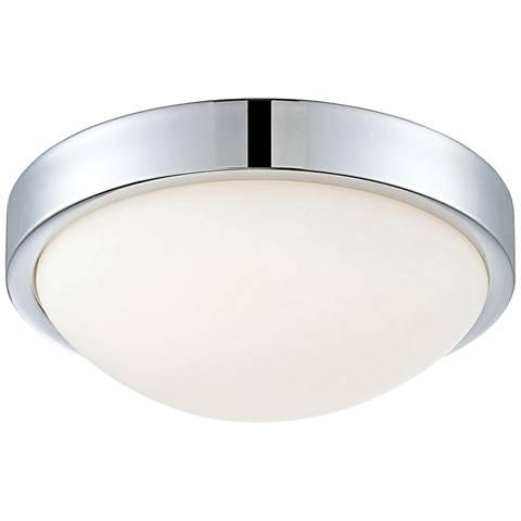 """Sydney 10 1/4"""" Wide Chrome LED Ceiling Light"""