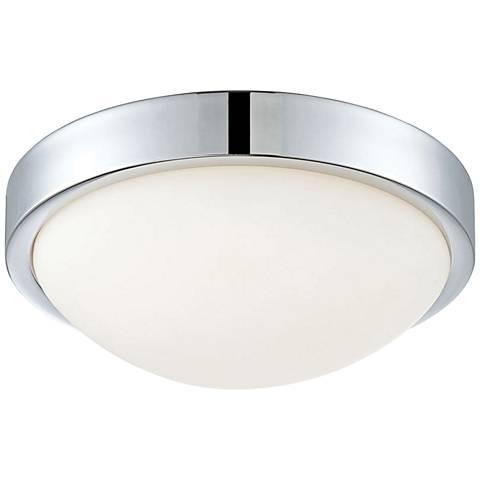 """Sydney 12 1/4"""" Wide Chrome LED Ceiling Light"""