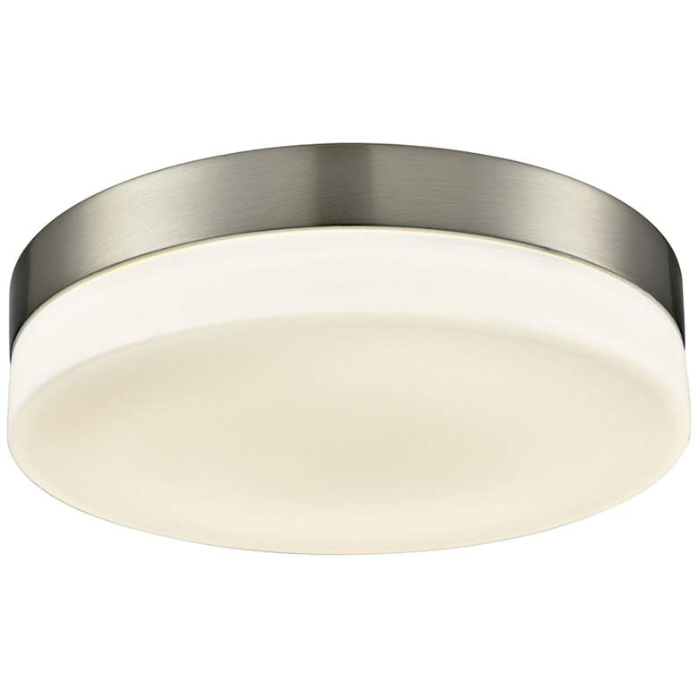 """Holmby 11"""" Wide Satin Nickel Round LED Ceiling Light"""
