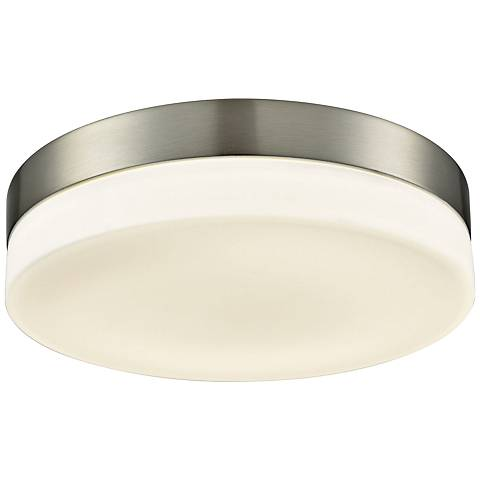 "Holmby 11"" Wide Satin Nickel Round LED Ceiling Light"