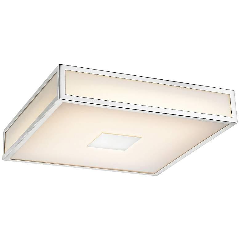 "Hampstead 12"" Wide Chrome LED Ceiling Light"
