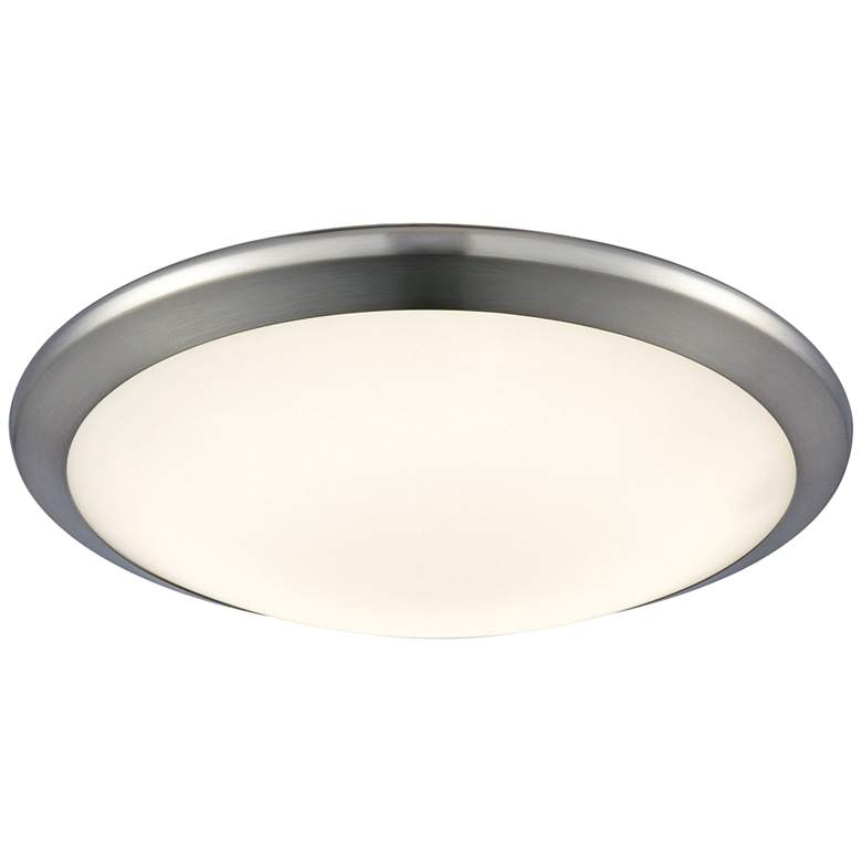 "Clancy 12"" Wide Chrome Round LED Ceiling Light"