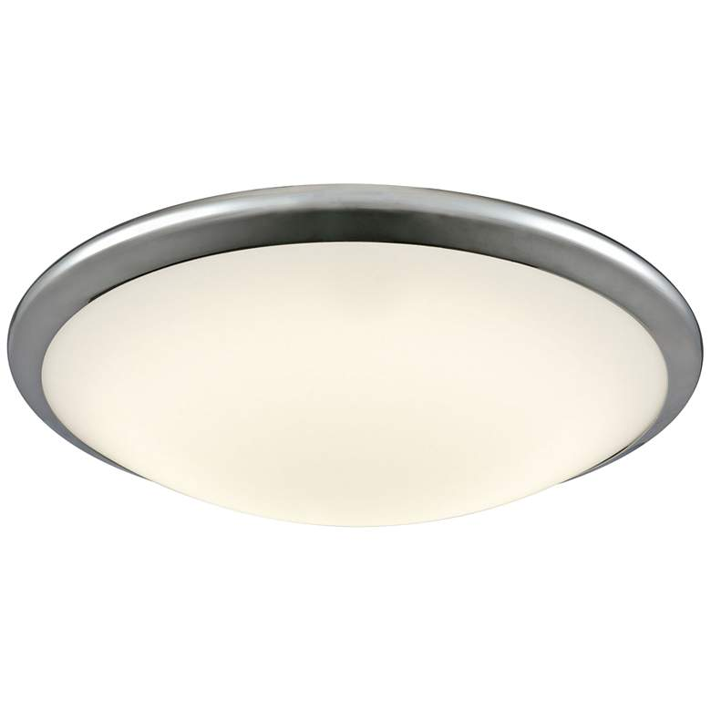 """Clancy 15"""" Wide Chrome Round LED Ceiling Light"""