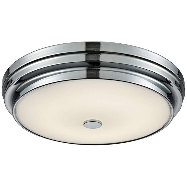 """Garvey 12 3/4"""" Wide Chrome Round LED Ceiling Light"""