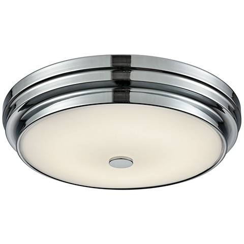 "Garvey 12 3/4"" Wide Chrome Round LED Ceiling Light"