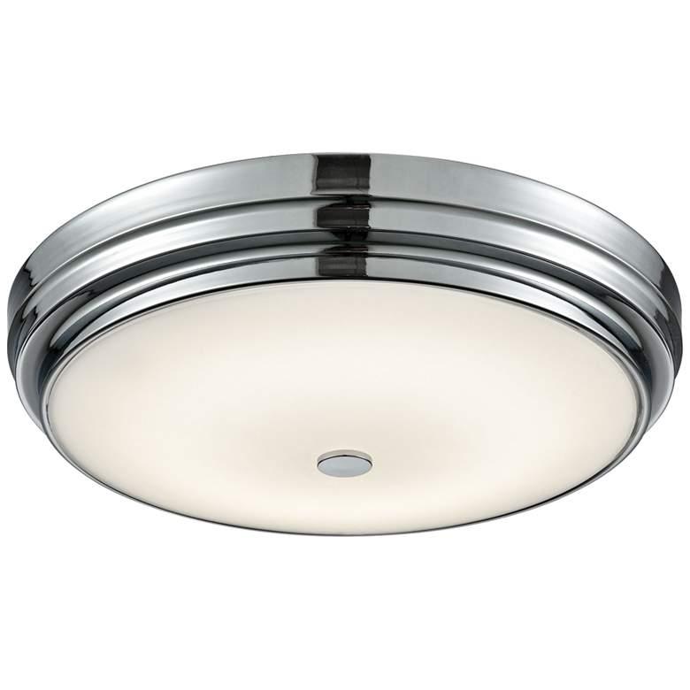"Garvey 15 3/4"" Wide Chrome Round LED Ceiling"