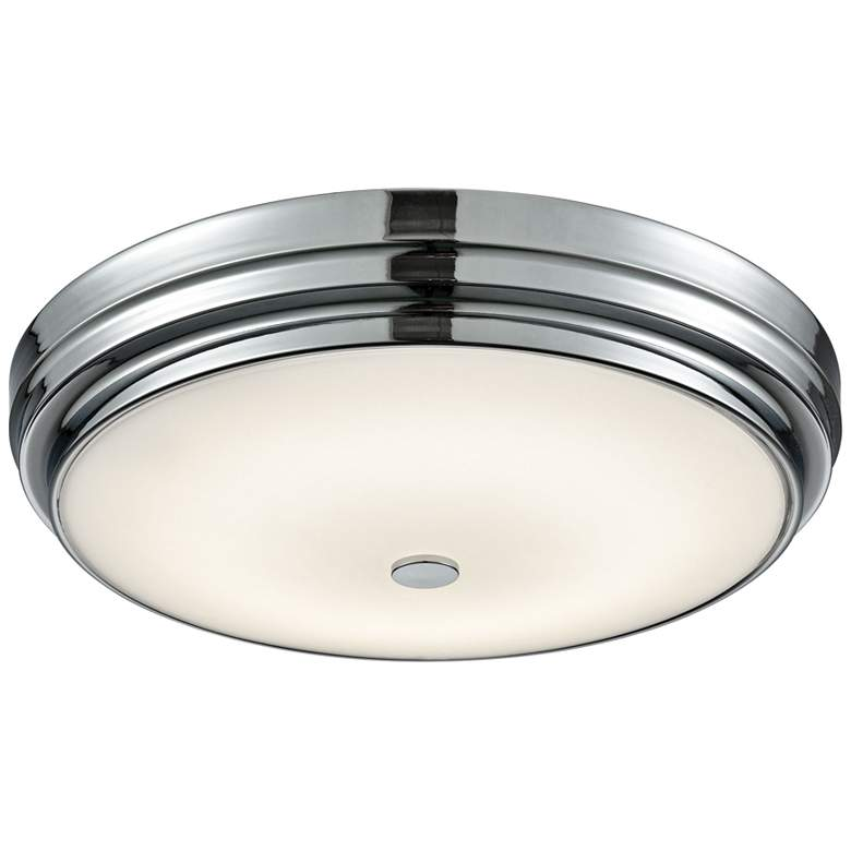 """Garvey 15 3/4"""" Wide Chrome Round LED Ceiling Light"""