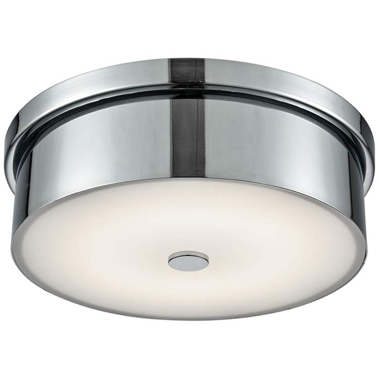 """Towne 12"""" Wide Chrome Round LED Ceiling Light"""