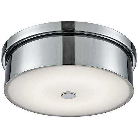 "Towne 12"" Wide Chrome Round LED Ceiling Light"