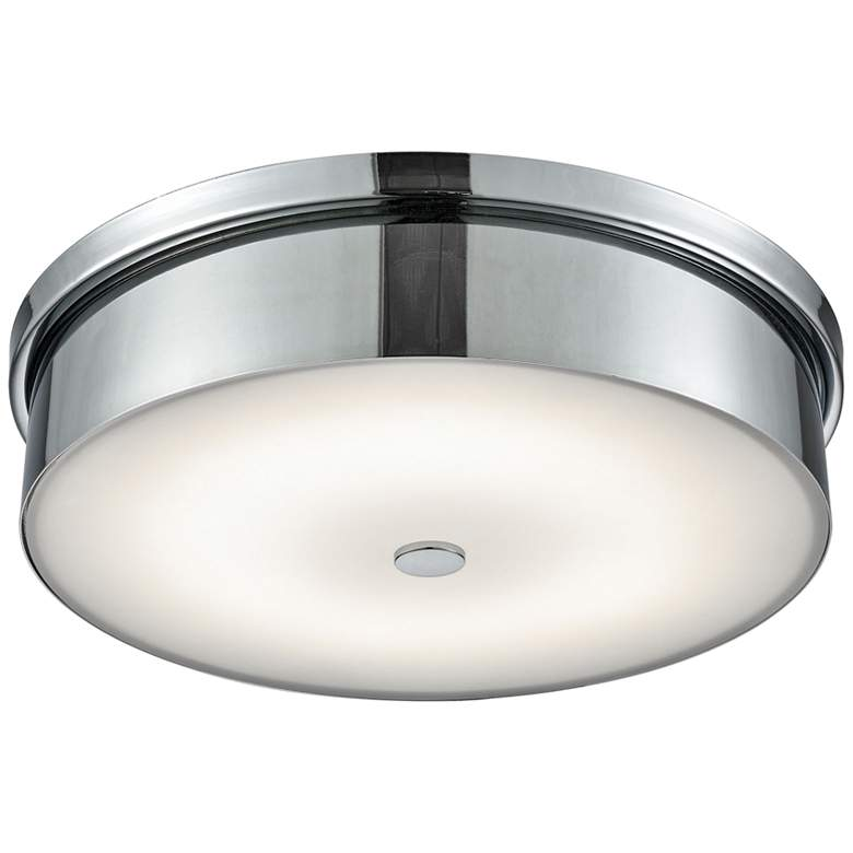 "Towne 15"" Wide Chrome Round LED Ceiling Light"