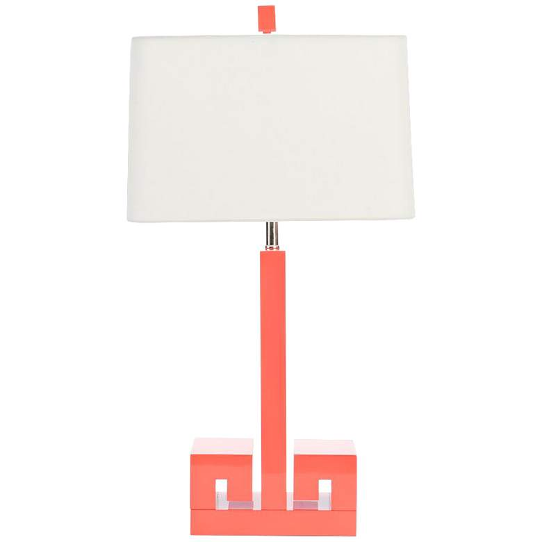 Couture Meg Caswell Astor Coral Lacquer Table Lamp