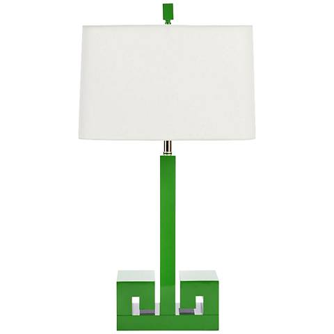 Couture Meg Caswell Astor Kelly Green Lacquer Table Lamp