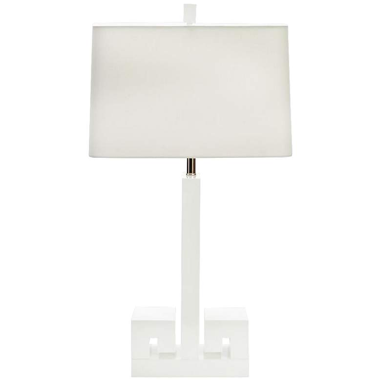 Couture Meg Caswell Astor White Lacquer Table Lamp