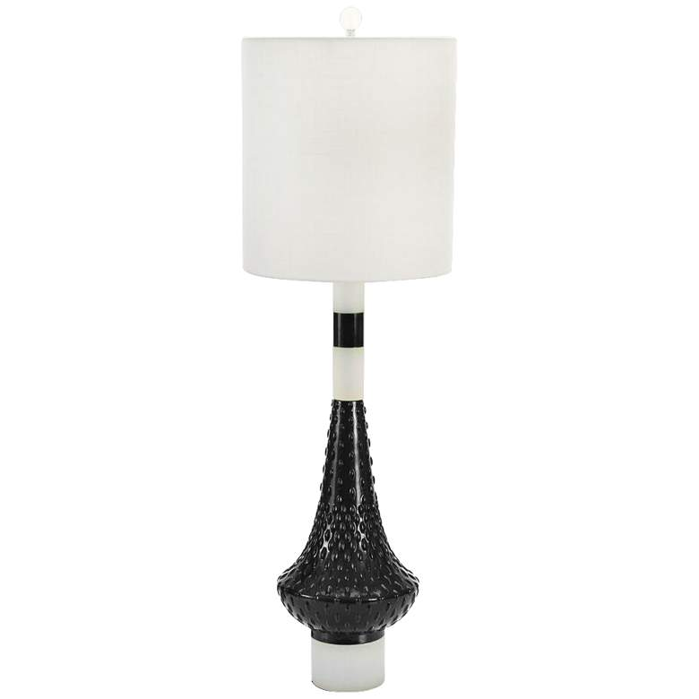 Couture Meg Caswell Edie Black Lacquer Table Lamp