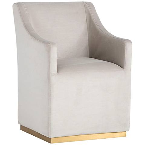 Zane Champagne Wheeled Lounge Chair