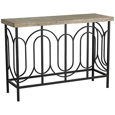 """Deny 45 1/2"""" Wide Wood and Metal Console Table"""