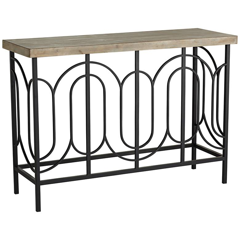 "Deny 45 1/2"" Wide Wood and Metal Console Table"