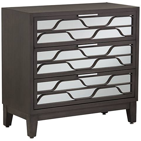 Carson Mirrored 3-Drawer Wood Accent Chest