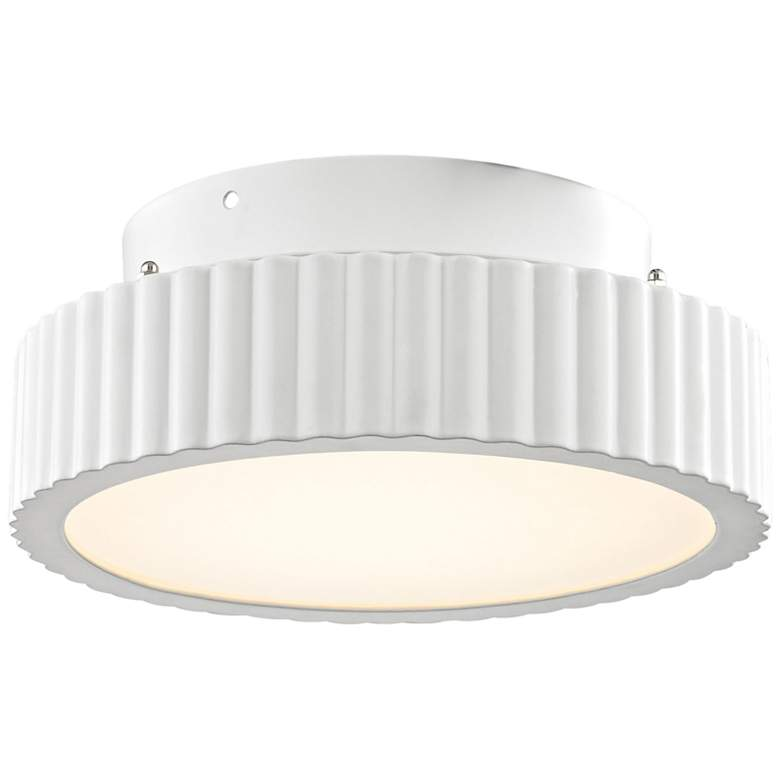 "Digby 10"" Wide Matte White LED Ceiling Light"