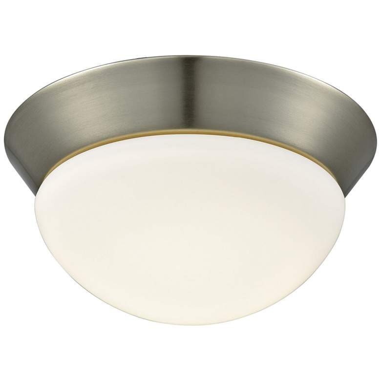 "Contours 8"" Wide Satin Nickel LED Ceiling Light"