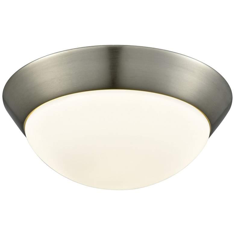 "Contours 11"" Wide Satin Nickel LED Ceiling Light"
