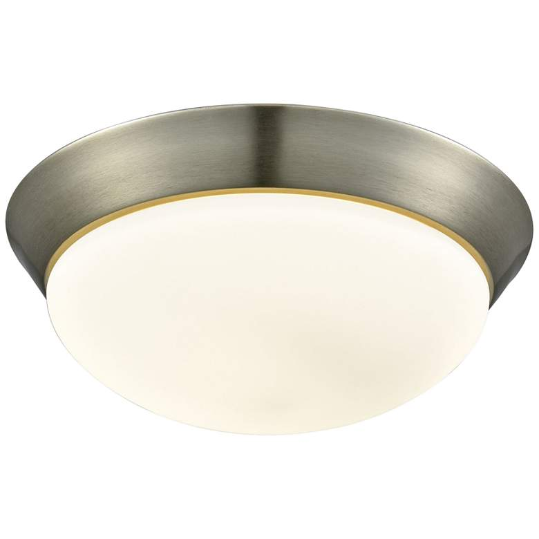 "Contours 12 3/4"" Wide Satin Nickel LED Ceiling"