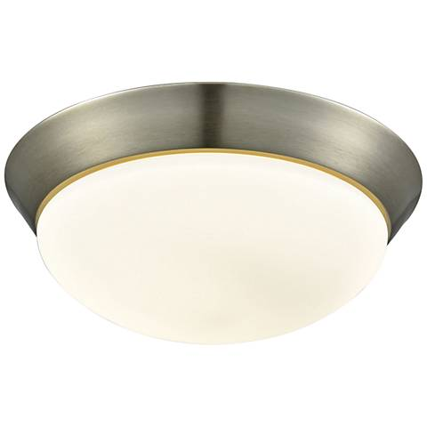 "Contours 12 3/4"" Wide Satin Nickel LED Ceiling Light"