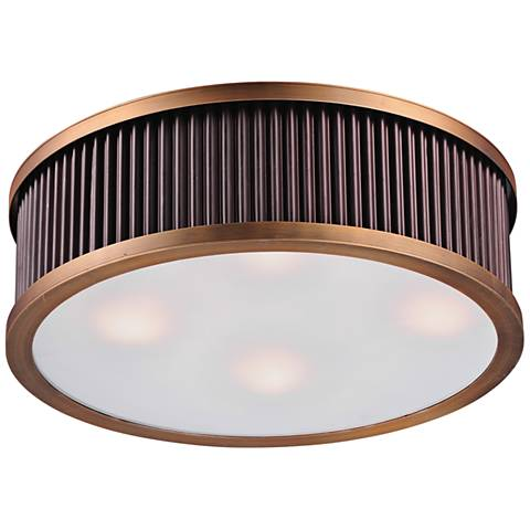 "Maxim Ruffle 17 1/2"" Wide Oil Rubbed Bronze Ceiling Light"