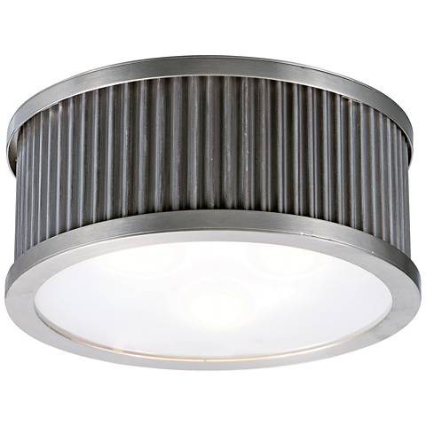 "Maxim Ruffle 17 1/2"" Wide Weathered Zinc Ceiling Light"