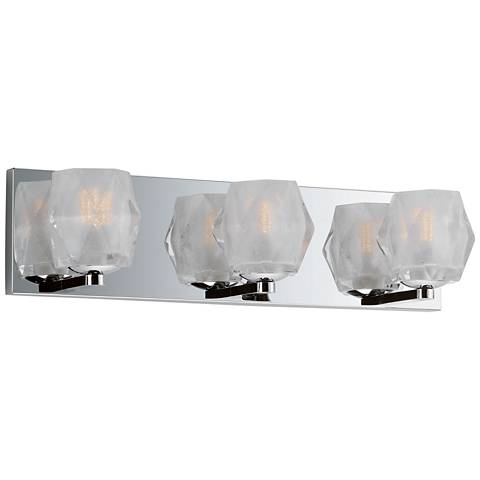 "Maxim Peak 19"" Wide Polished Chrome 3-LED Bath Light"
