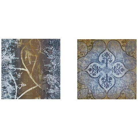 "Velvet Impressions 20"" Square 2-Piece Canvas Wall Art Set"
