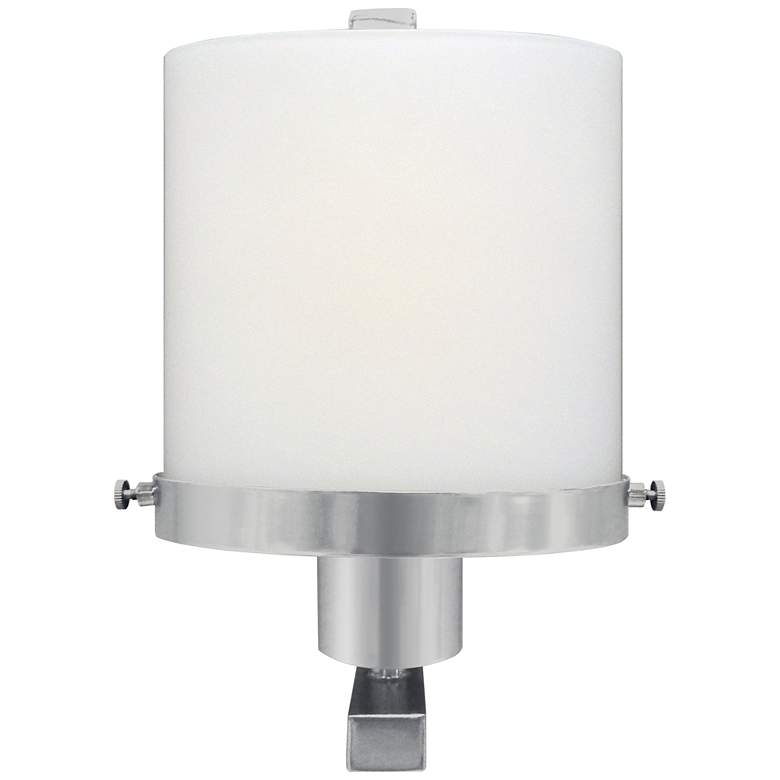 "36Y10 - Satin Nickel Wall Lamp 10""H W/Oval Glass Shade"