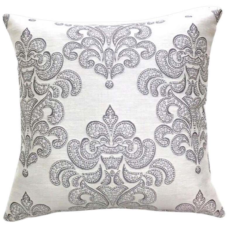 "Adigio Platinum 20"" Square Throw Pillow"