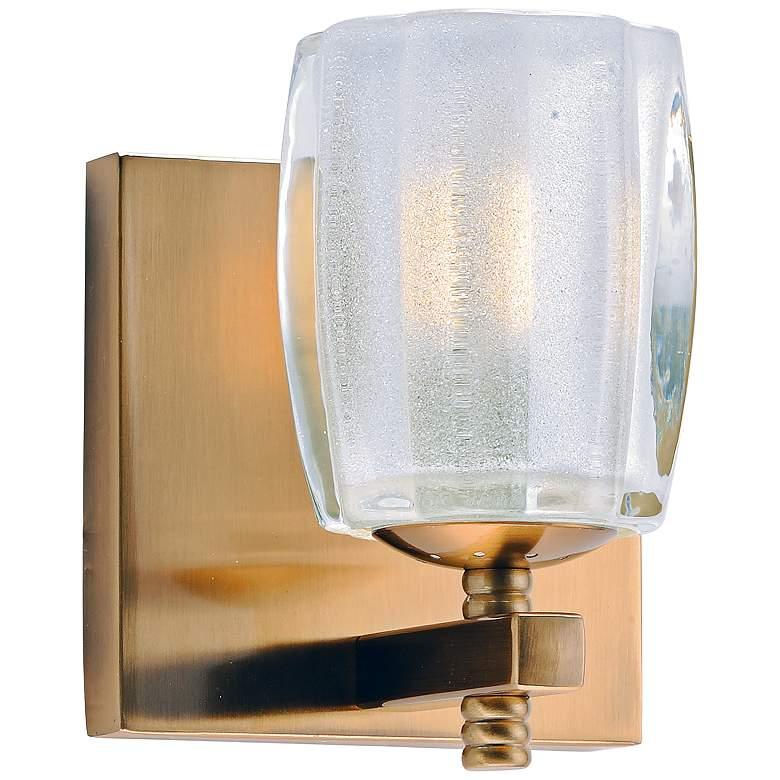 "Maxim Bravado 6"" High Golden Bronze LED Wall Sconce"